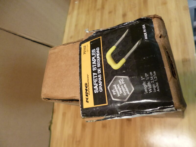 King Insulated Staples 70102 10 Packs 100 Ea (1000 total)