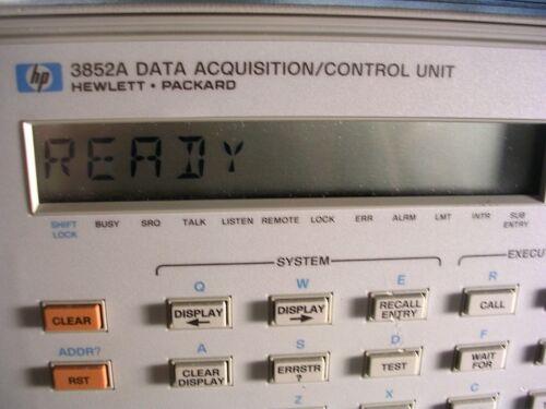 HP AGILENT 3852A DATA ACQUISITION MAIN FRAME.