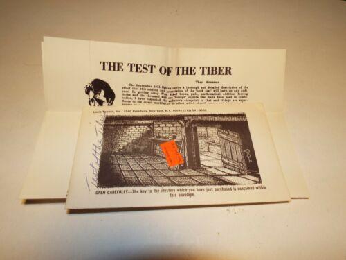 Theo Anneman Test of the Tiber Magic Effect Mentalist Routine Trick