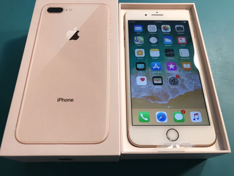 New Apple iPhone 8 Plus 64gb - Gold - Sprint Bad Active Esn - NEEDS UNLOCKED