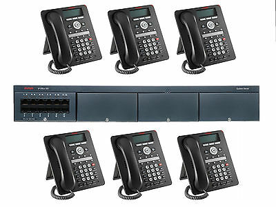 Avaya Ip Office 500 V2 Phone System With 6 1408 Phones Voice Mail New