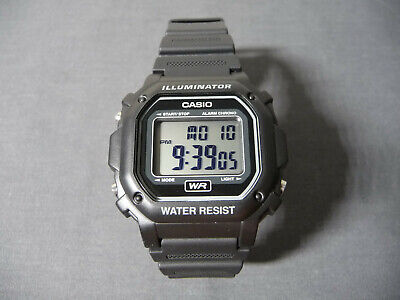 Casio illuminator F-108WH Alarm Chrono Digital Wristwatch BLACK