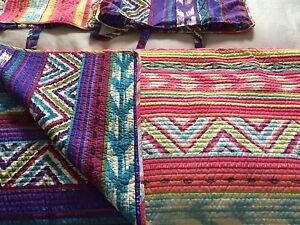 Beautiful Reversible Double Quilt with Shams