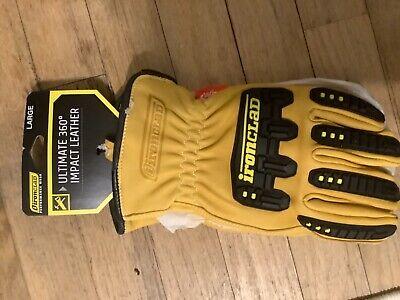Ironclad Ild-impc5 Ultimate 360 Impact Leather Gloves Lg 1 Pair