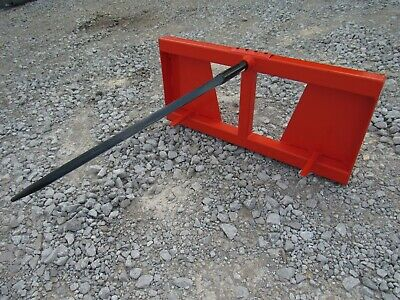Hay Bale Spear Attachment Fits Kubota Quick Attach Loader Skid Steer Heavy Duty