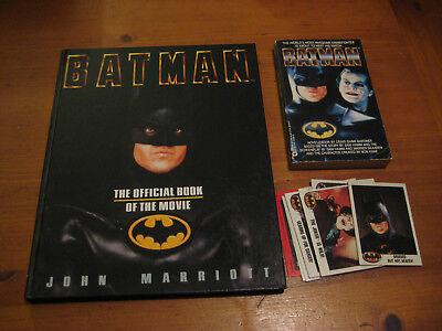 Batman movie 1989 books and trading cards Craig Shaw Gardner