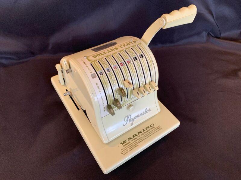 Vintage Paymaster Series S-1000 Vintage Check Writer Cream & Green