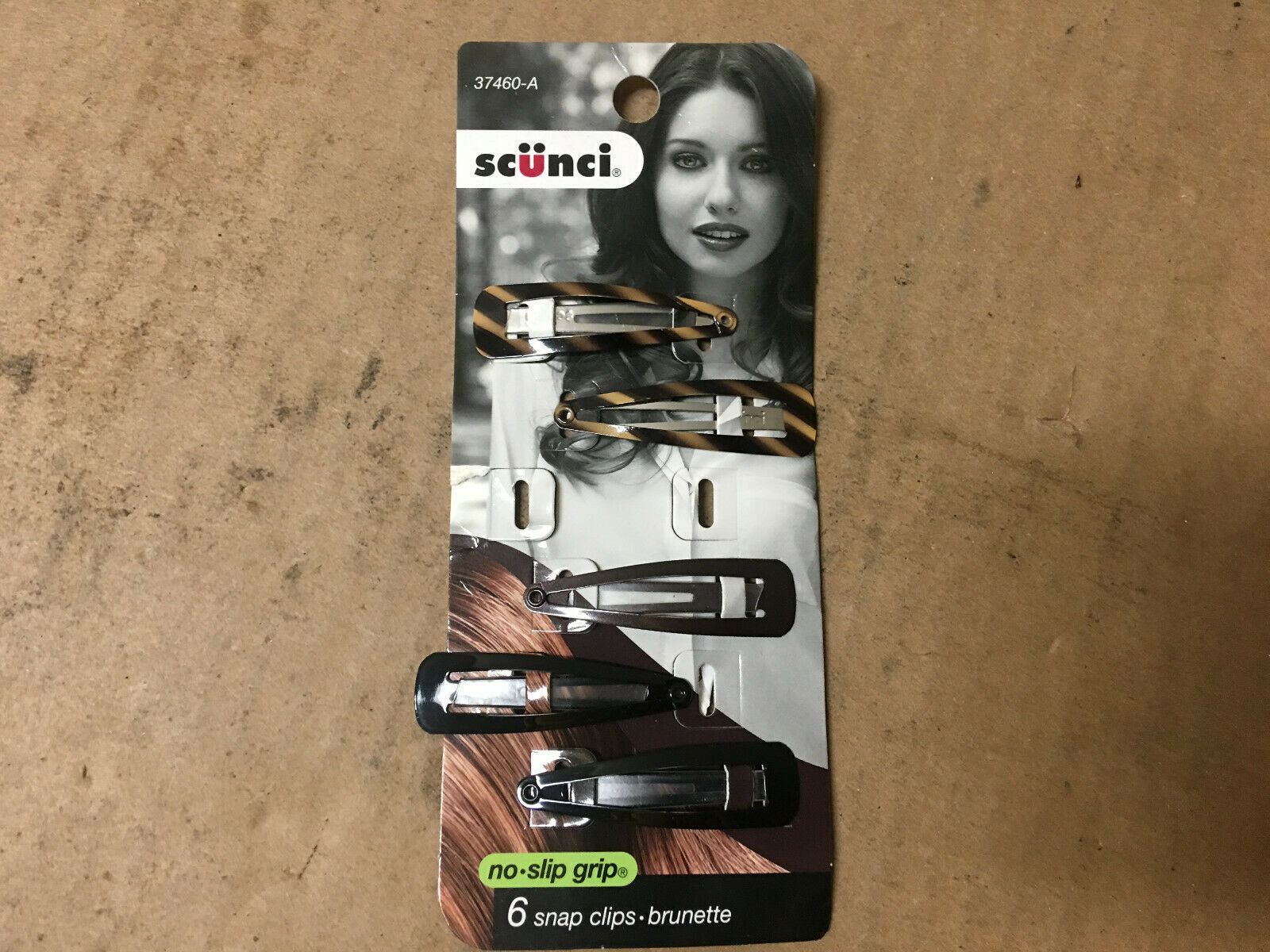 Scunci 3746003A048 Beautiful Blends™ Brown Snap Clips 6 Co