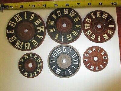 LOT OF 6 vintage cuckoo clock dials German-W German