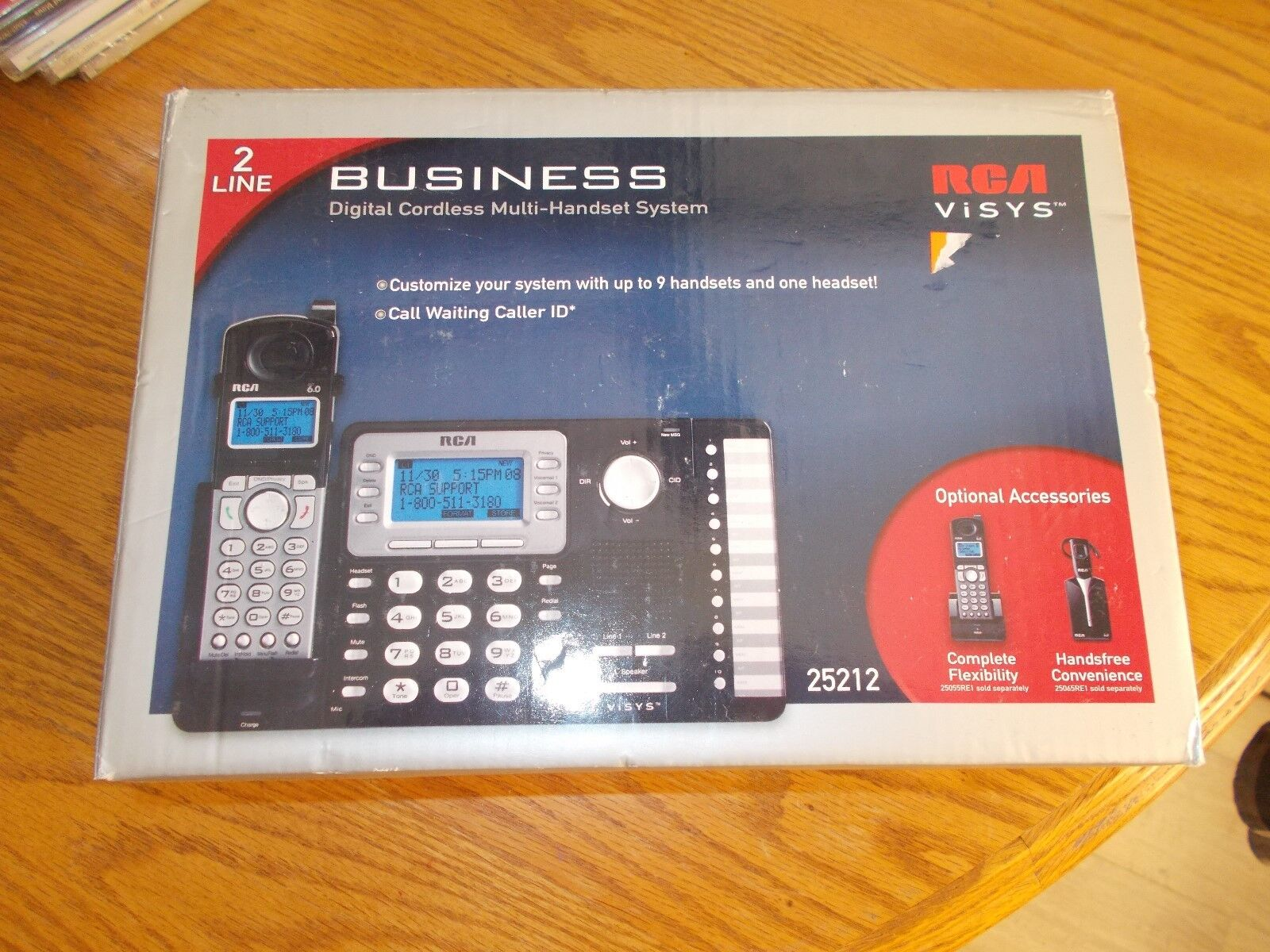 RCA 25212 2-Line Expandable Cordless Phone with Caller ID