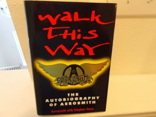 Aerosmith Band Autographed Walk This Way Book with Ad