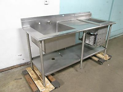 Heavy Duty Commercial Single Basin Prep Sink Wrefrigerated Chiller Well