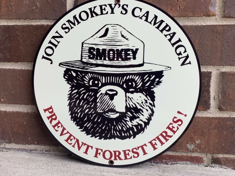 Smokey The Bear Prevent Forest Fires Vintage Style Metal sign