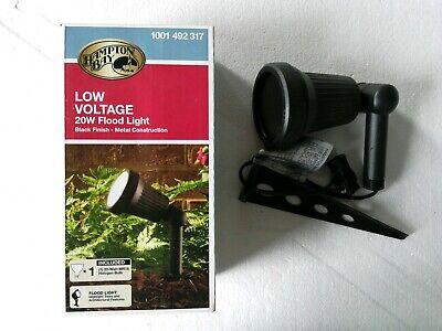 Hampton Bay Low-Voltage20-Watt Black Outdoor Halogen Landscape Flood LightKit