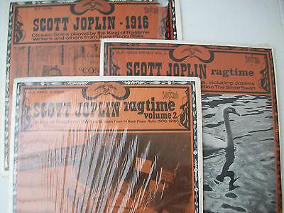 Job Lot 3 Biograph Scott Joplin Ragtime 1916 Arlington Axtmann Maple Leaf Rag F