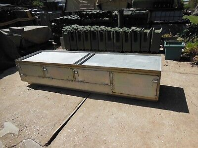 MILITARY SURPLUS US ARMY FIELD KITCHEN CABINET  ALUMINUM BASE  4  CABINET (Field Kitchen)