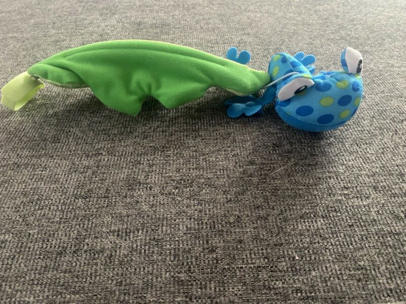 Fisher Price Rainforest Jumperoo Plush Blue Frog • Hanging Toy Replacement Part