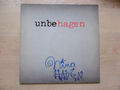 """Nina Hagen Autogramm signed LP-Cover """"unbehagen"""" Vinyl"""