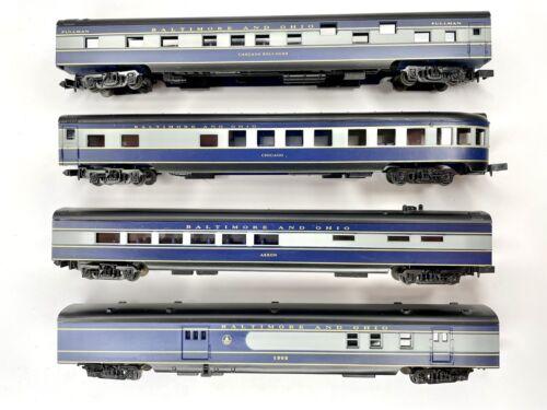 4er Set Con-Cor N Personenwagen Baltimore Ohio B&O Pullman blau/grau Akron 1303