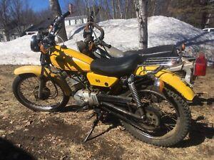 Moto yamaha enduro 50cc 1980