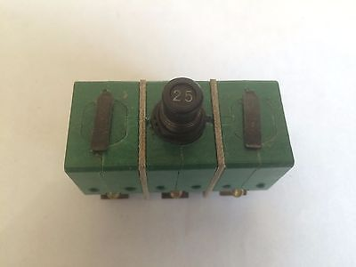 Klixon 9tc2-25 Circuit Breaker 25a Aircraft 3 Phase Airplane Aviation