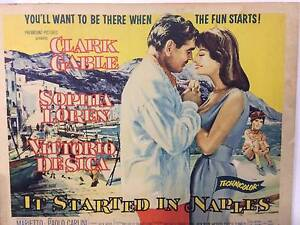 """""""It Started In Naples"""" movie poster wood mounted. Cheltenham Kingston Area Preview"""