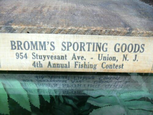 1952 New Jersey Fish Laws advertising ruler.