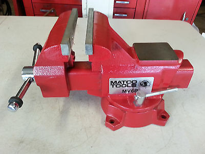Matco tools bench vise 6 1 2 inch mv6b pipe jaws swivel base auctions buy and sell 6 inch bench vise