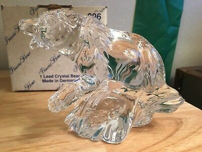 Princess House 996 Lead Crystal Bear. NIB (Lead Crystal Bear)