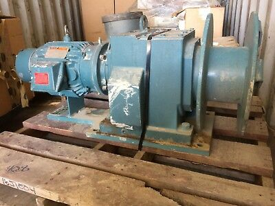 IWM 3100AA electric tugger winch  3 HP  Motor & Drive 17 inch drum
