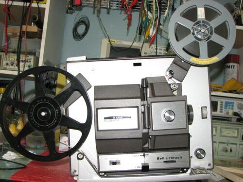 Vtg Bell & Howell 456A Dual Std 8mm/Super 8mm Movie Projector Serviced 2 Bulbs