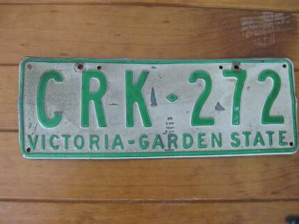 Single Retro Car Number Plate - Victoria (Australia) 1977 - 1994