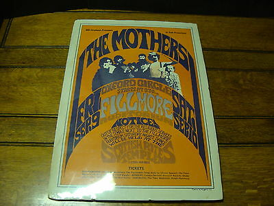1966 bill graham THE MOTHERS of invention fillmore ROCK POSTER 1966 ZAPPA