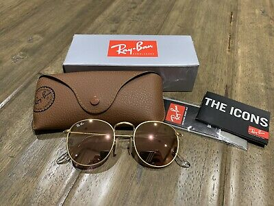Ray-Ban Round Metal Sunglasses RB3447 112/Z2 Matte Gold/Cooper Flash Lens (Rb3447 Matte Gold)
