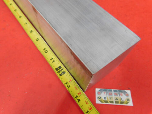 "3"" X 3"" ALUMINUM 6061 SQUARE SOLID BAR 14"" long T6511 Flat Mill Stock"