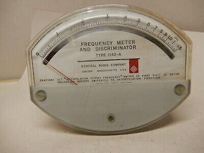 General Radio Frequency Meter And Discriminator Type 1142-a Panel Meter Used