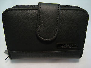 Ladies-Leather-Purse-Wallet-Credit-Card-Holder-all-in-One-Black