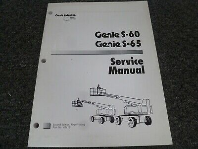 Genie S60 S65 Telescopic Boom Aerial Lift Shop Service Repair Manual