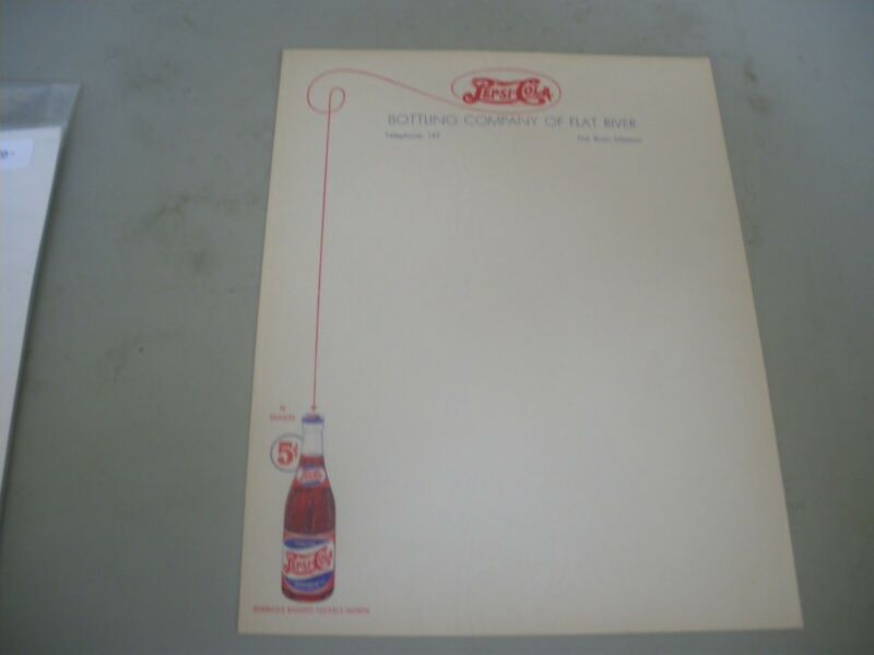 pepsi cola stationary 1940