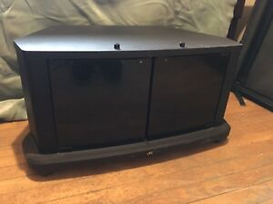 JVC TV Stand with magnetic, glass doors