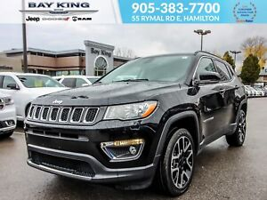 2017 Jeep Compass LIMITED 4X4, GPS, BLUETOOTH, REMOTE START