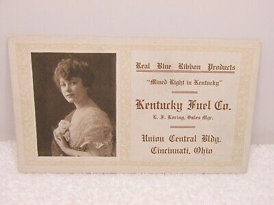 Pretty Woman Kentucky Fuel Co Cincinnati Ohio Vintage Advertising Ink Blotter