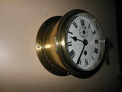 Old 8 day Fusee Ships Clock