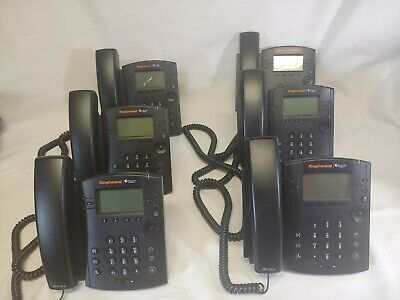 Ring Central Polycom Vvx 410 Voip Business Phone Lot Of 6 Free Shipping