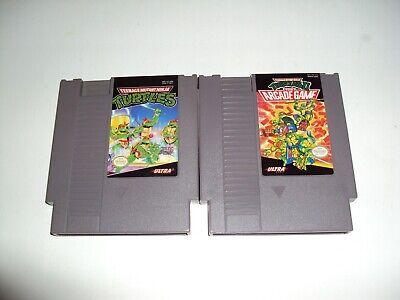 Teenage Mutant Ninja Turtles 1+2 Nintendo Nes Games Tested Adult Owned