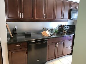 Full Brown kitchen cabinets