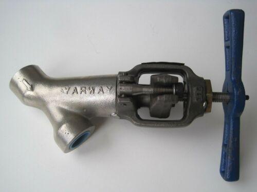 "Yarway Weldbond 3/4"" Globe Valve 5617B 1700 Stainless High Pressure Socket Weld"