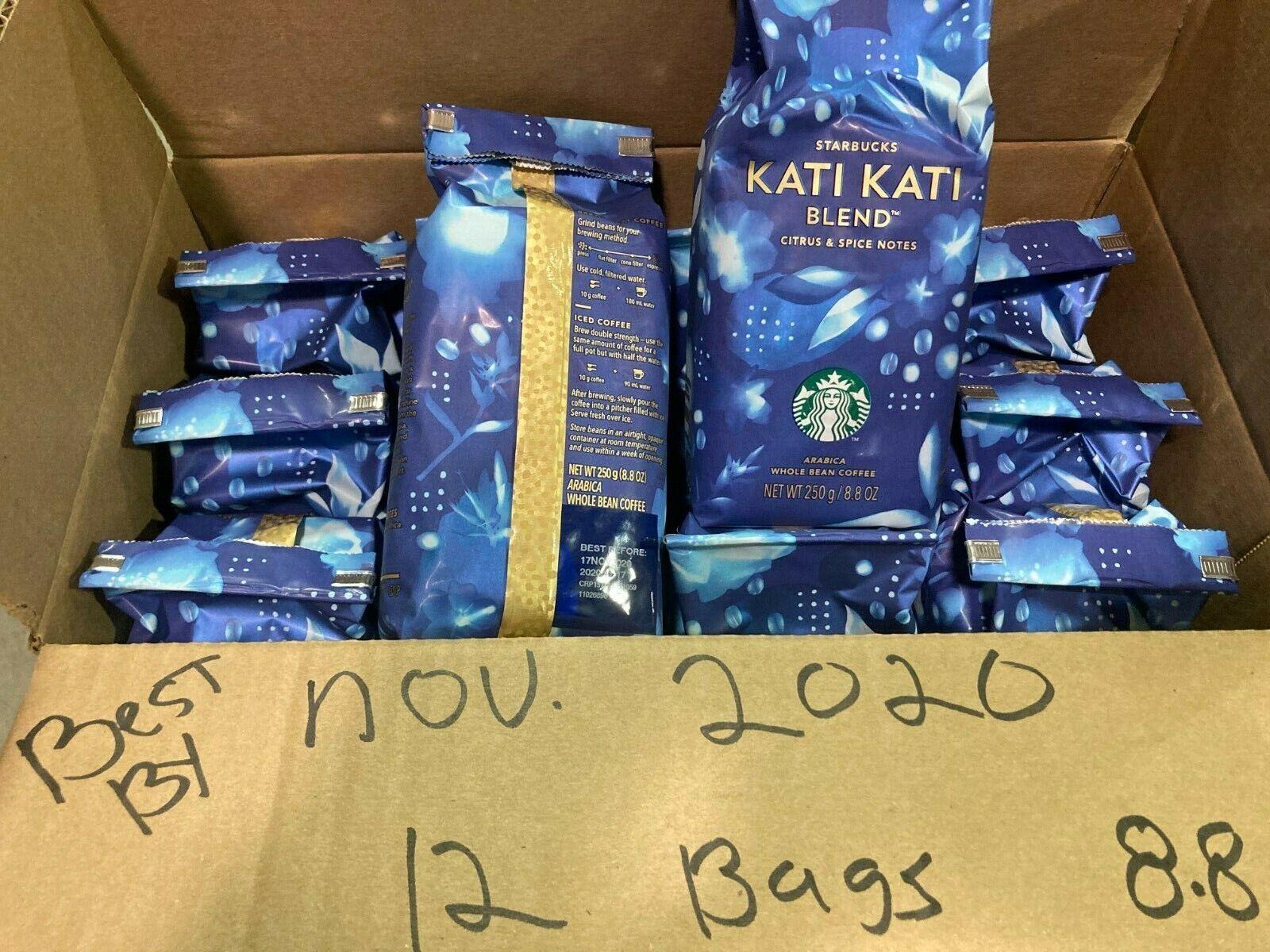 Lot Of 12/8.8 Oz Starbucks Reserve Kati Kati Whole Bean Coffee Best By NOV 2020 - $22.50