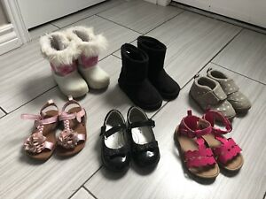 Size 6 sandals and boots