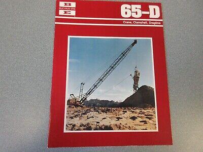 Rare Bucyrus-erie 65-d Crane Excavator Sales Brochure 1977